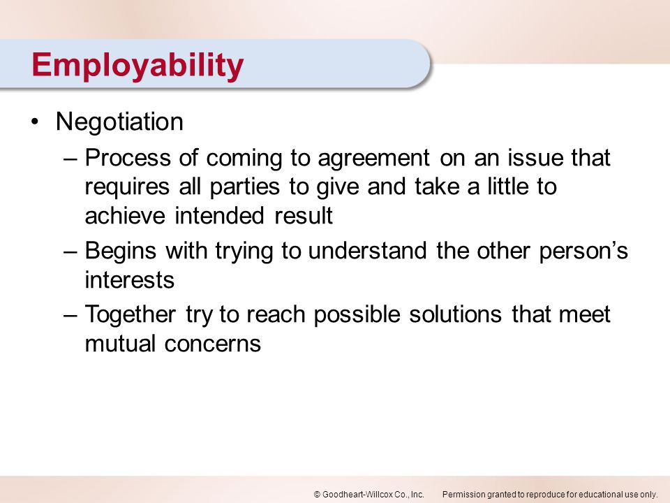Employability Negotiation