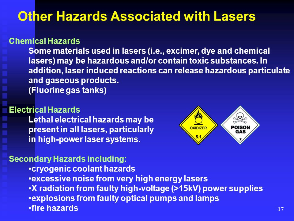Other Hazards Associated with Lasers