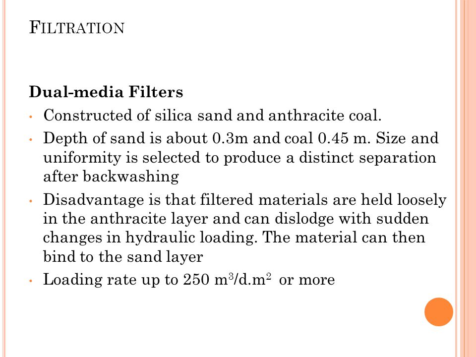 Filtration Dual-media Filters