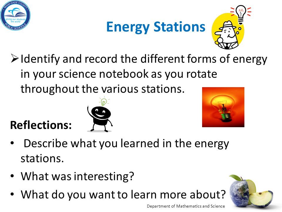 Forms of Energy Stationstaions
