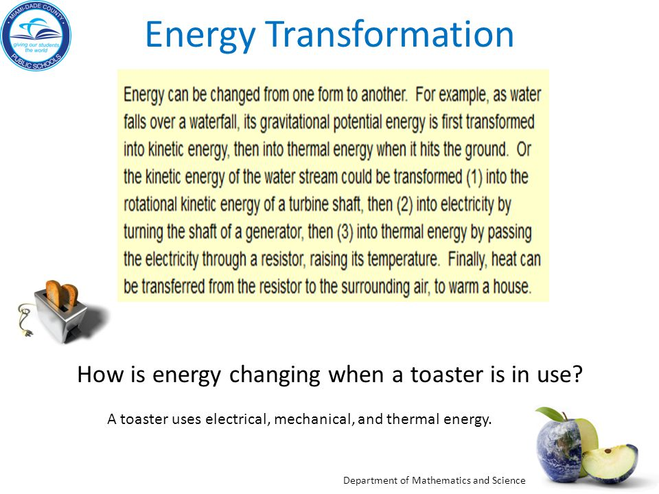 energy transformation examples Using labs or stations in a middle school science lesson this lesson goes into energy transformation group stations and everyday objects help students dive into the topic.