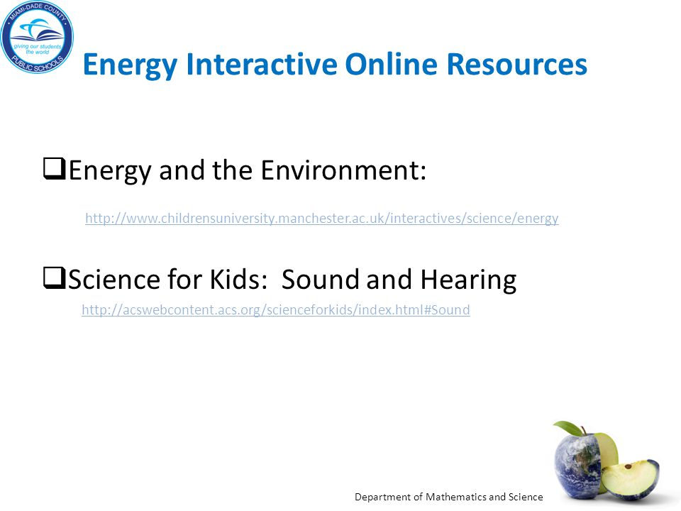 Energy Interactive Online Resources