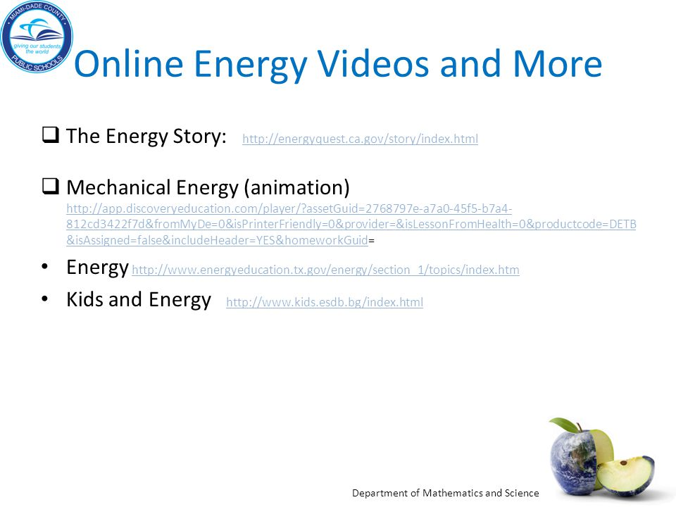 Online Energy Videos and More