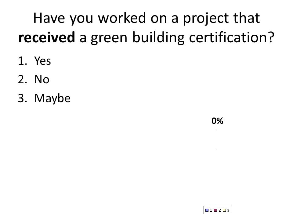 Have you worked on a project that received a green building certification
