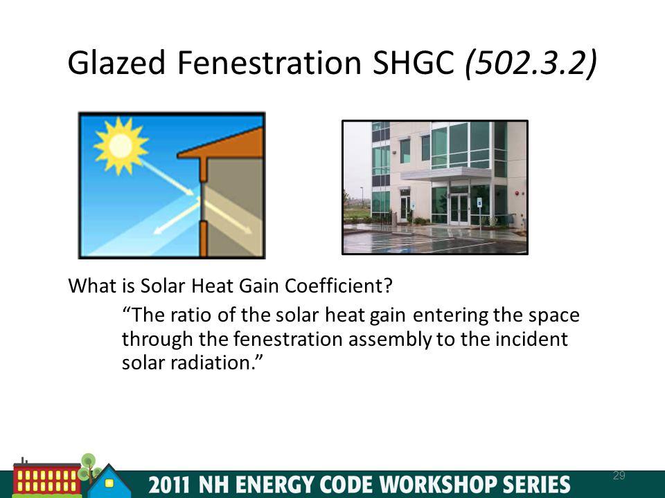 Glazed Fenestration SHGC (502.3.2)