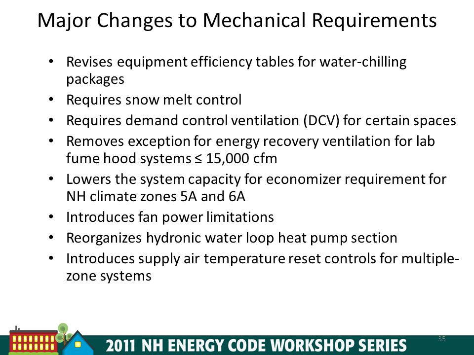 Major Changes to Mechanical Requirements