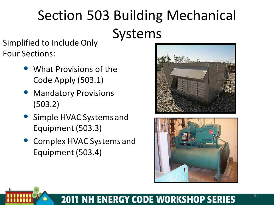 Section 503 Building Mechanical Systems
