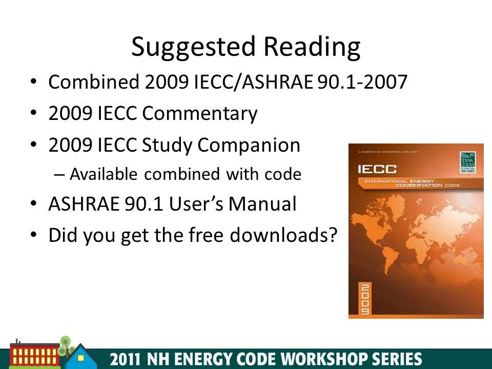 Suggested Reading Combined 2009 IECC/ASHRAE 90.1-2007