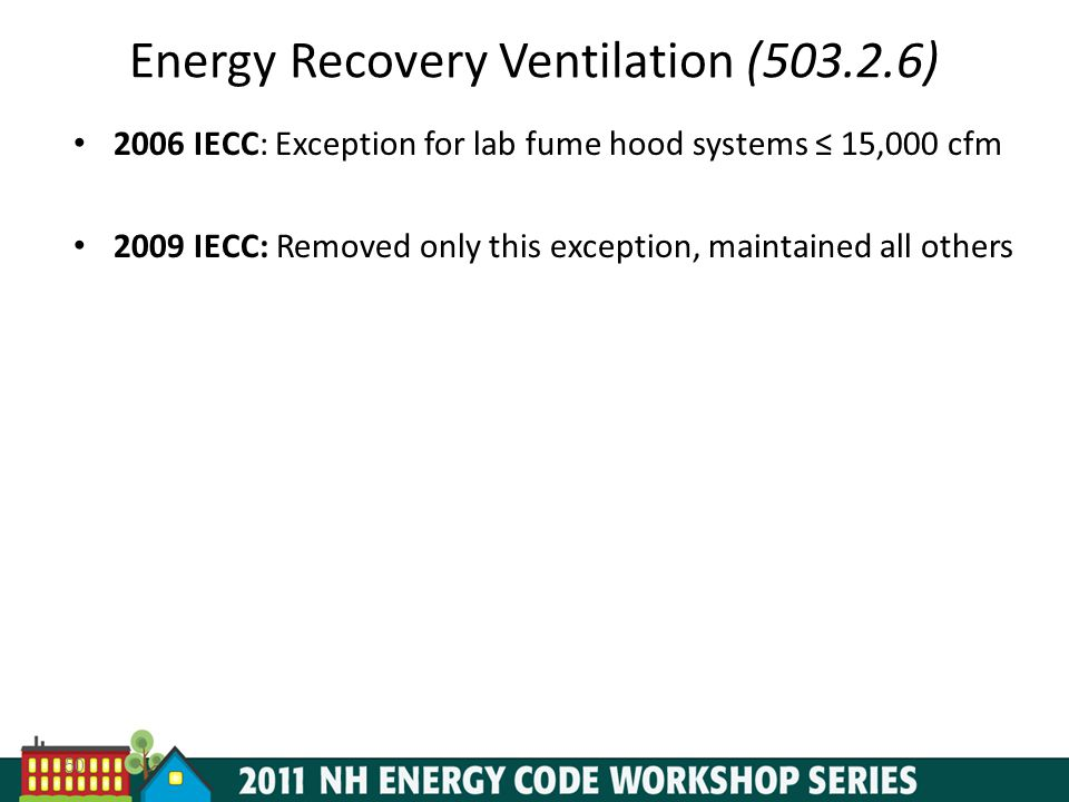 Energy Recovery Ventilation (503.2.6)