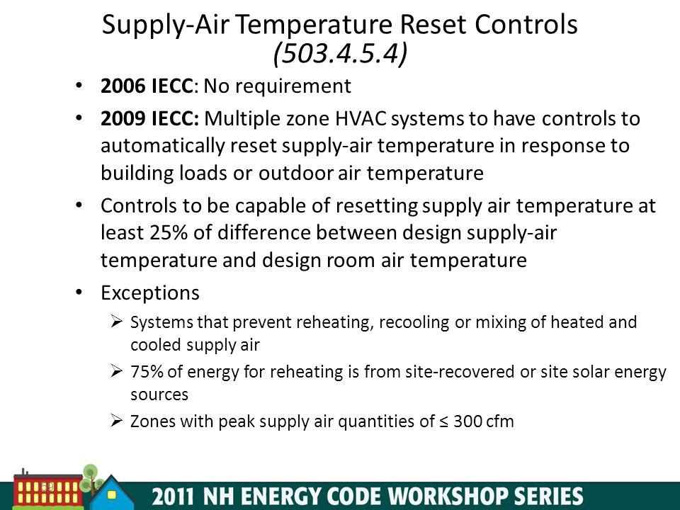 Supply-Air Temperature Reset Controls (503.4.5.4)