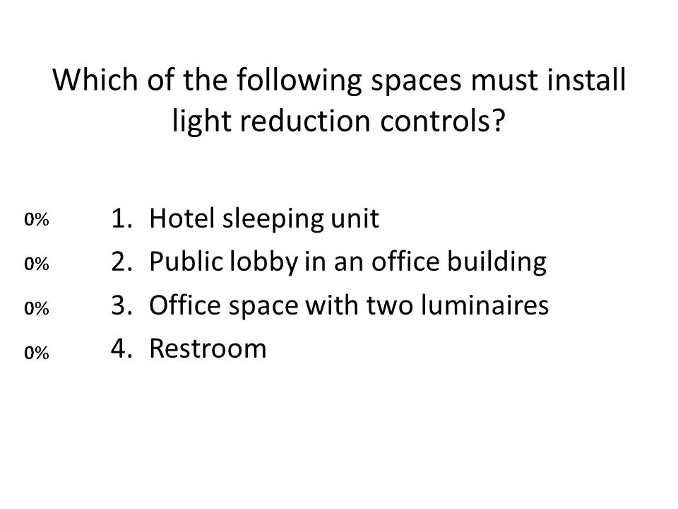 Which of the following spaces must install light reduction controls
