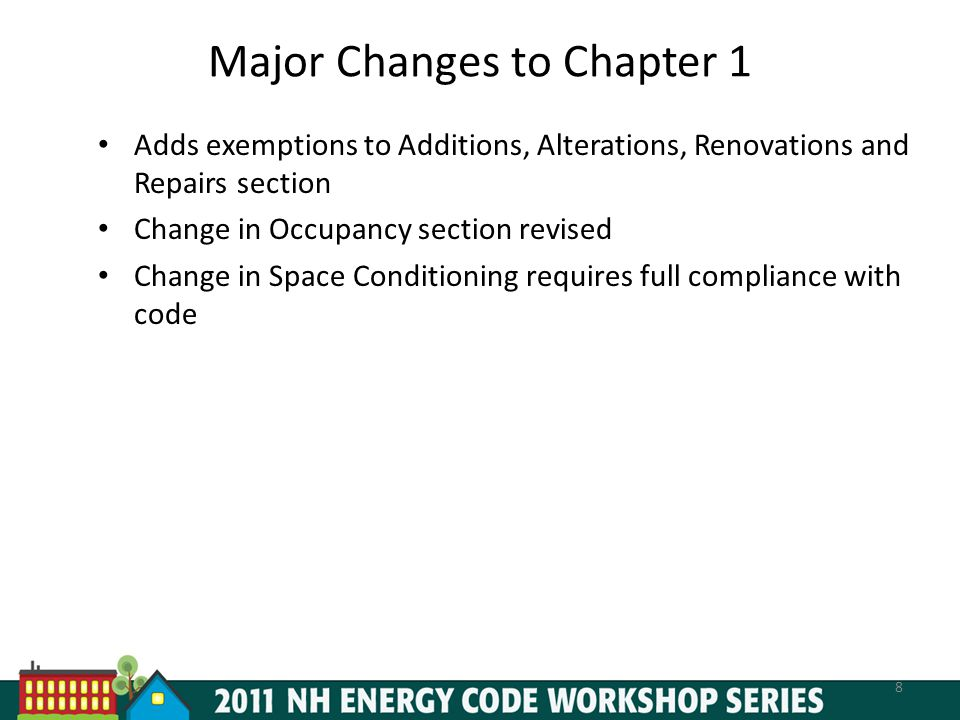 Major Changes to Chapter 1
