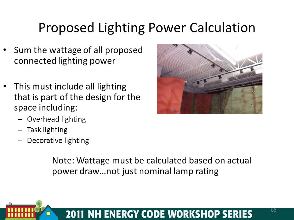 Proposed Lighting Power Calculation