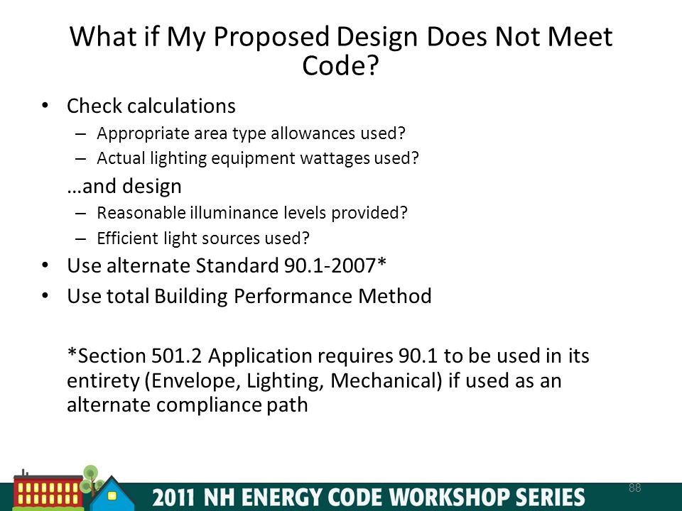 What if My Proposed Design Does Not Meet Code