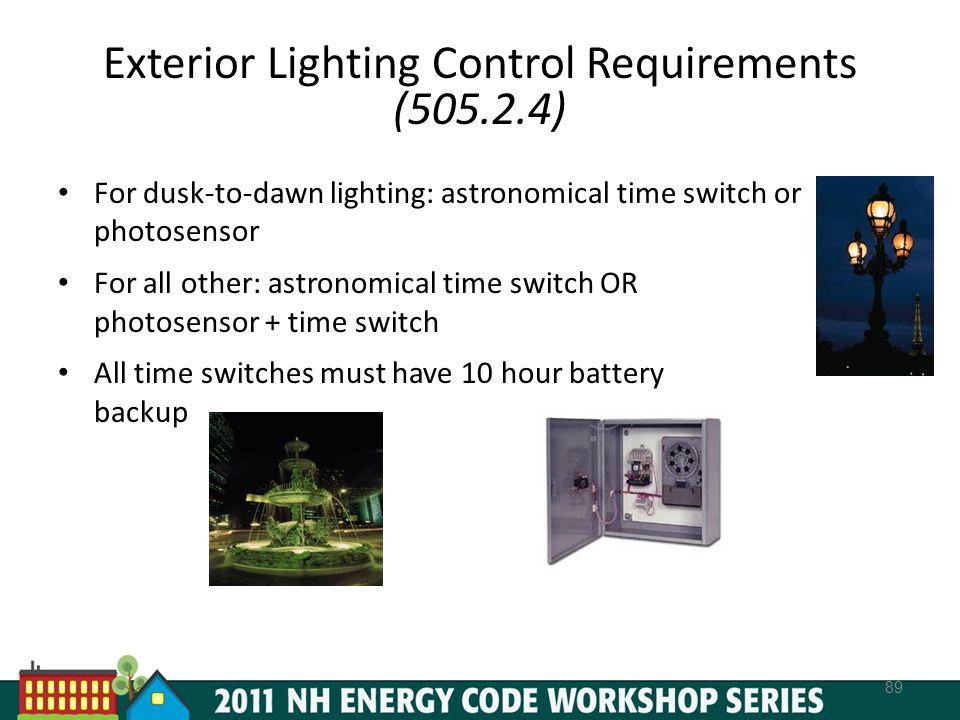 Exterior Lighting Control Requirements (505.2.4)