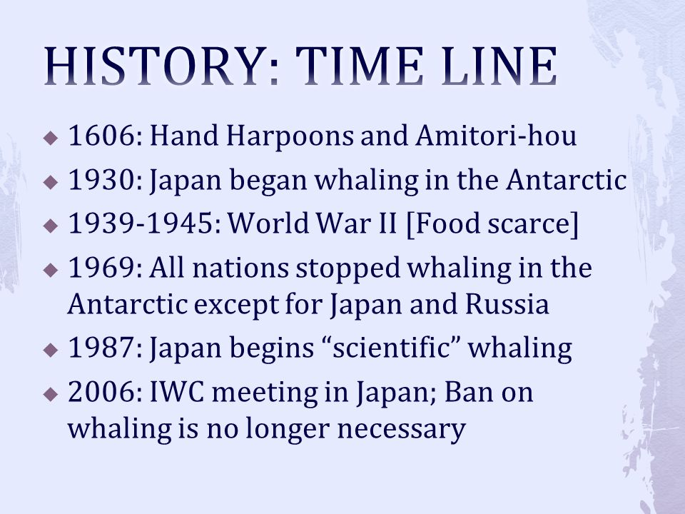 HISTORY: TIME LINE 1606: Hand Harpoons and Amitori-hou
