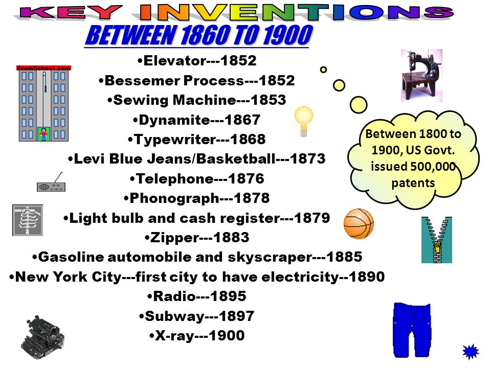 Between 1800 to 1900, US Govt. issued 500,000 patents