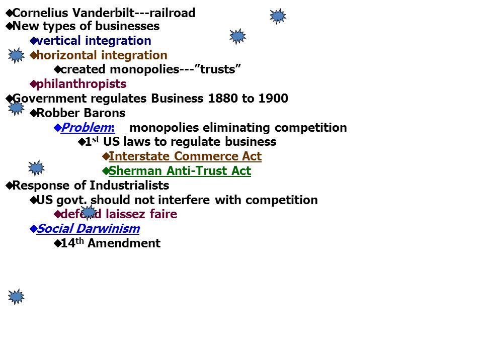 Cornelius Vanderbilt---railroad