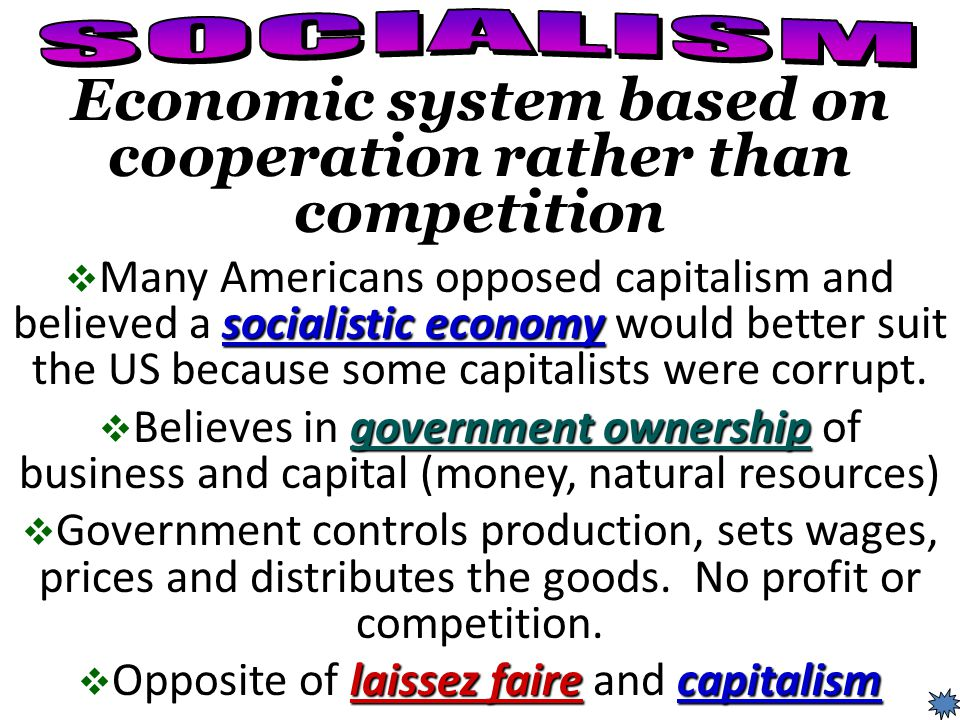 Economic system based on cooperation rather than competition