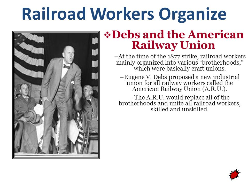 Railroad Workers Organize Debs and the American Railway Union