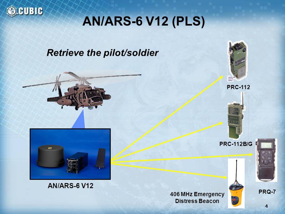 Retrieve the pilot/soldier 406 MHz Emergency Distress Beacon