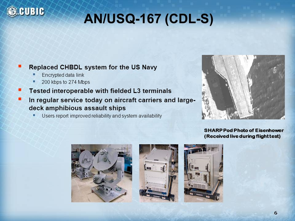 AN/USQ-167 (CDL-S) Replaced CHBDL system for the US Navy