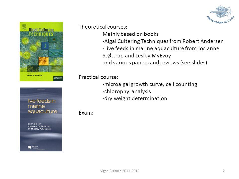 -Algal Cultering Techniques from Robert Andersen