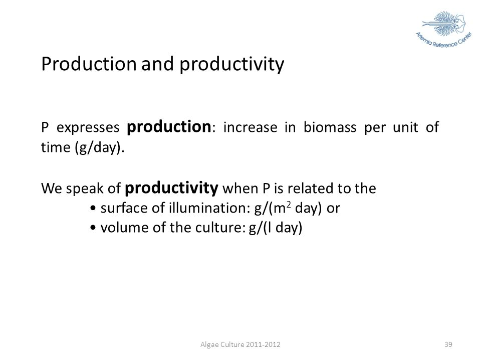 Production and productivity