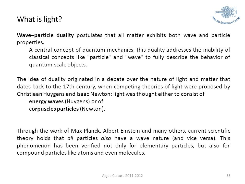 What is light Wave–particle duality postulates that all matter exhibits both wave and particle properties.