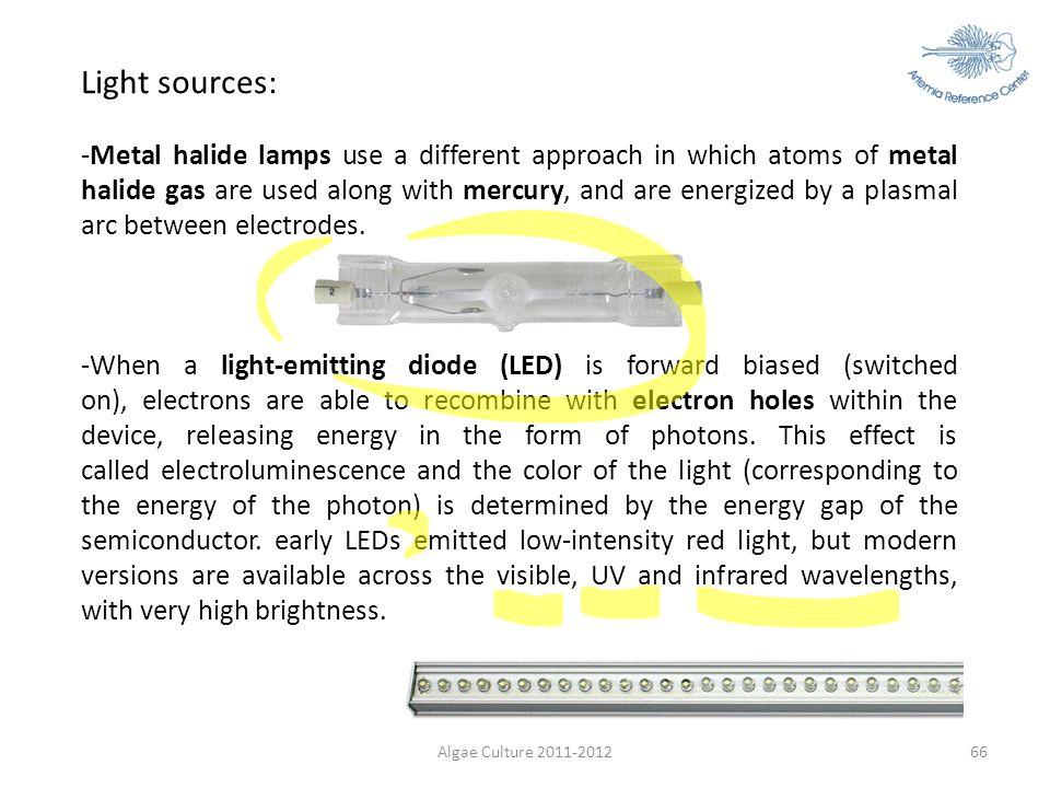 Light sources: