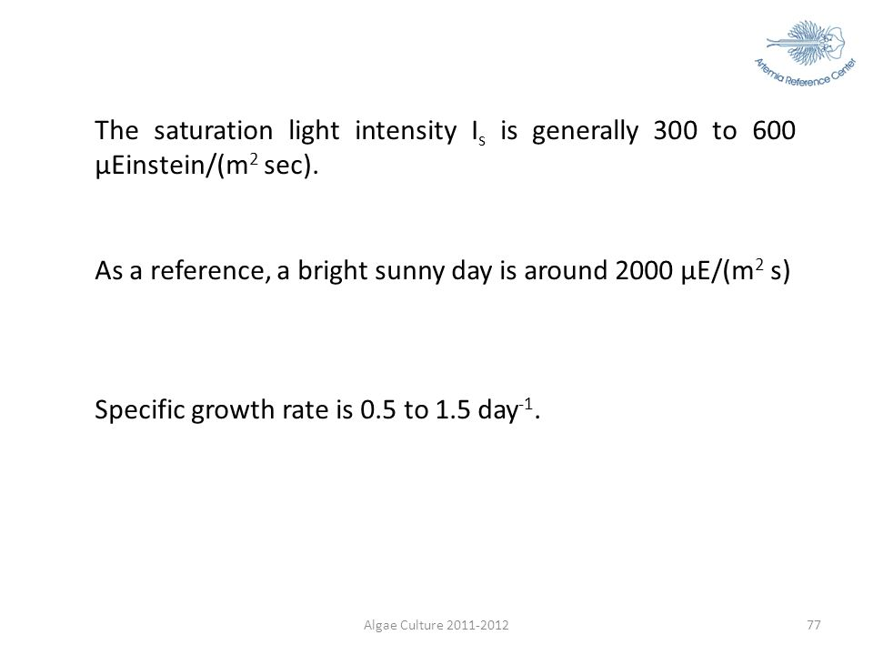 As a reference, a bright sunny day is around 2000 µE/(m2 s)