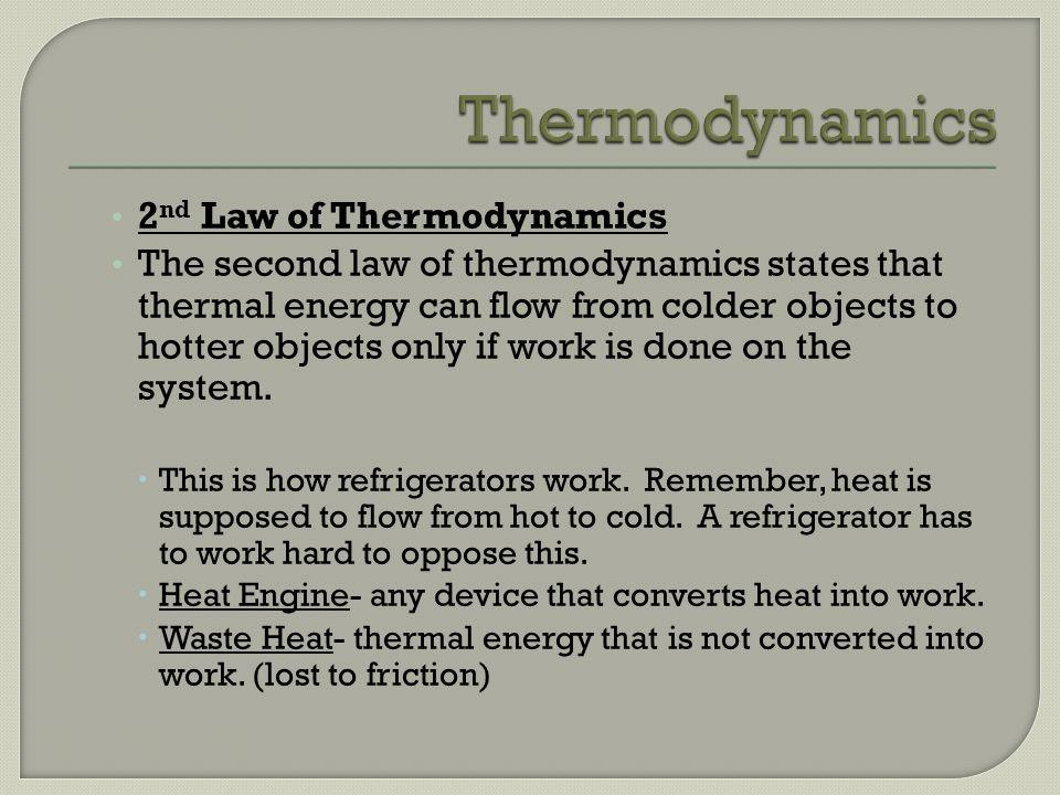 Thermodynamics 2nd Law of Thermodynamics