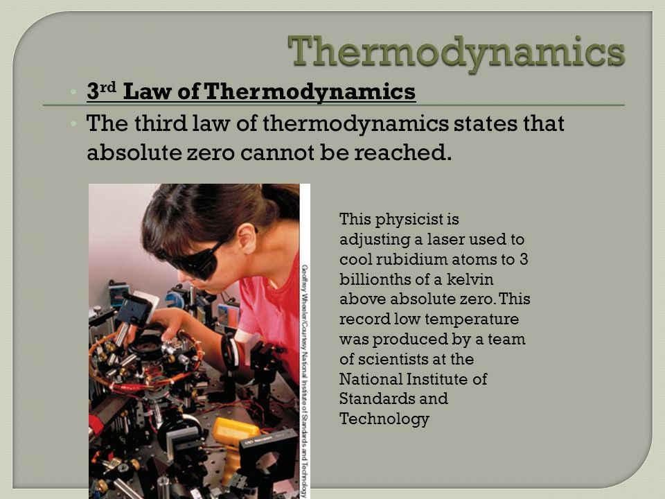 Thermodynamics 3rd Law of Thermodynamics
