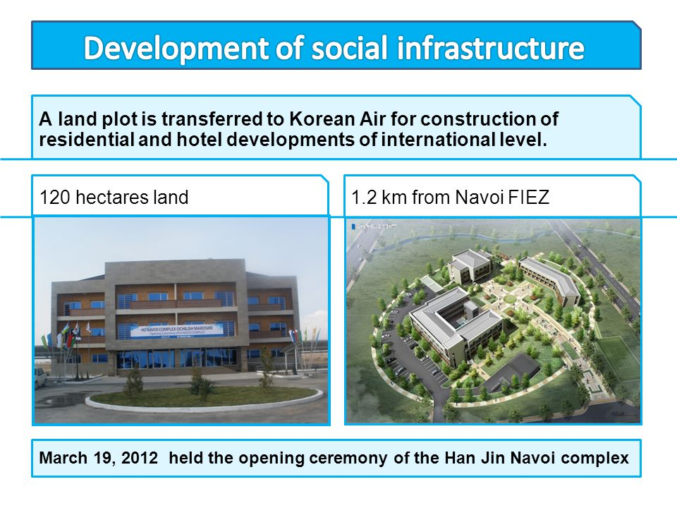 Development of social infrastructure