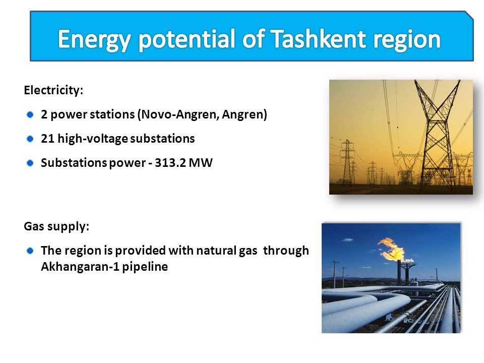 Energy potential of Tashkent region