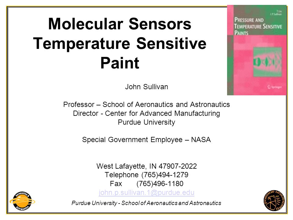 Molecular Sensors Temperature Sensitive Paint