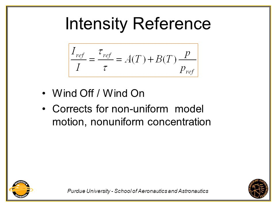 Intensity Reference Wind Off / Wind On