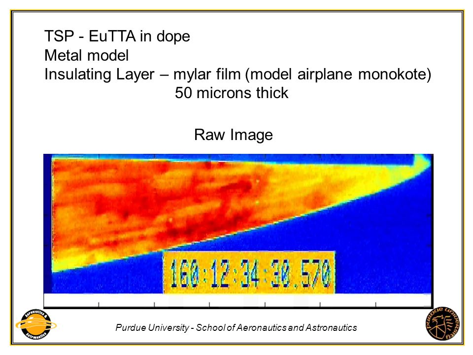 TSP - EuTTA in dope Metal model. Insulating Layer – mylar film (model airplane monokote) 50 microns thick.