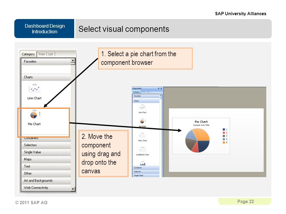 Select visual components