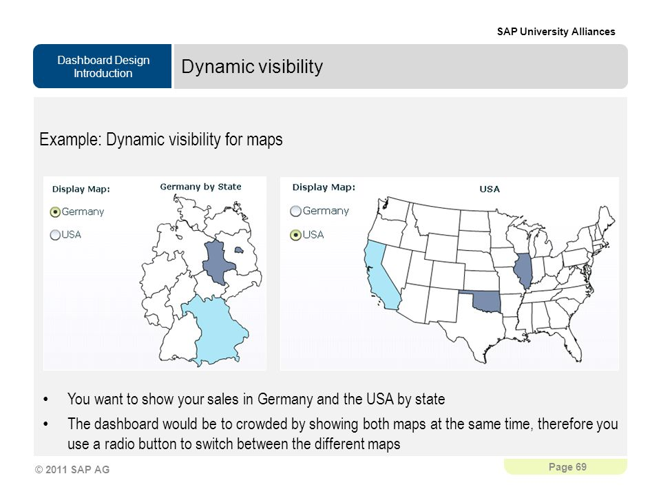 Example: Dynamic visibility for maps