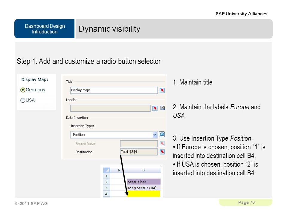 Step 1: Add and customize a radio button selector
