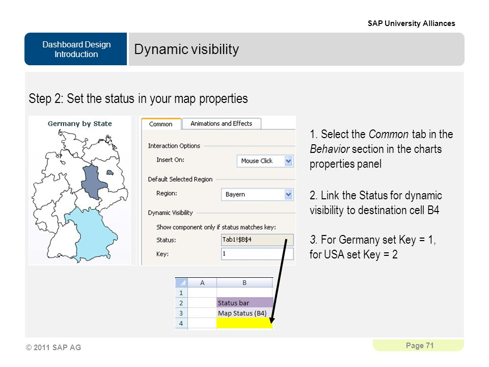 Step 2: Set the status in your map properties