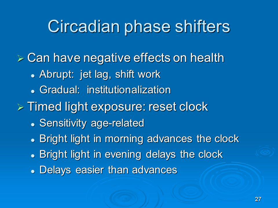 Circadian phase shifters