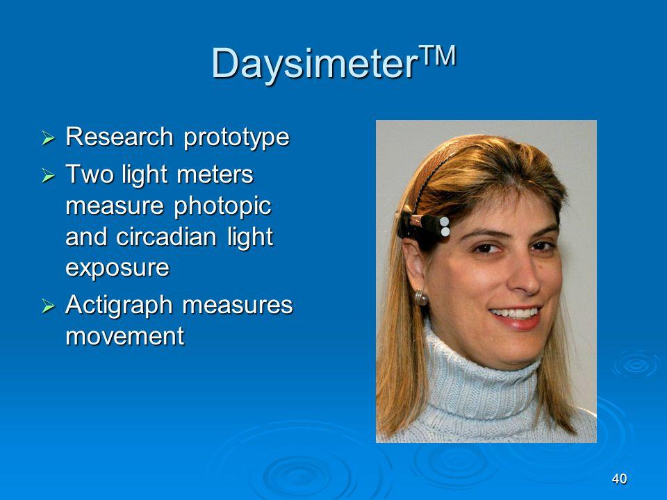 DaysimeterTM Research prototype
