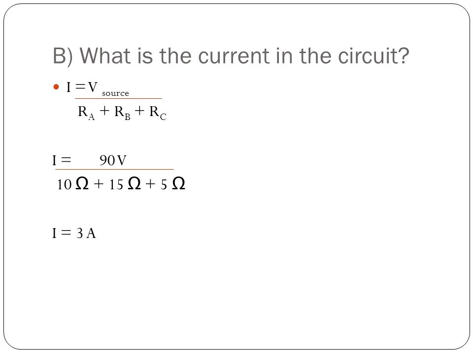 B) What is the current in the circuit