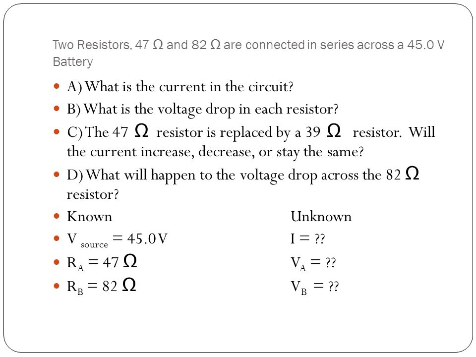 A) What is the current in the circuit