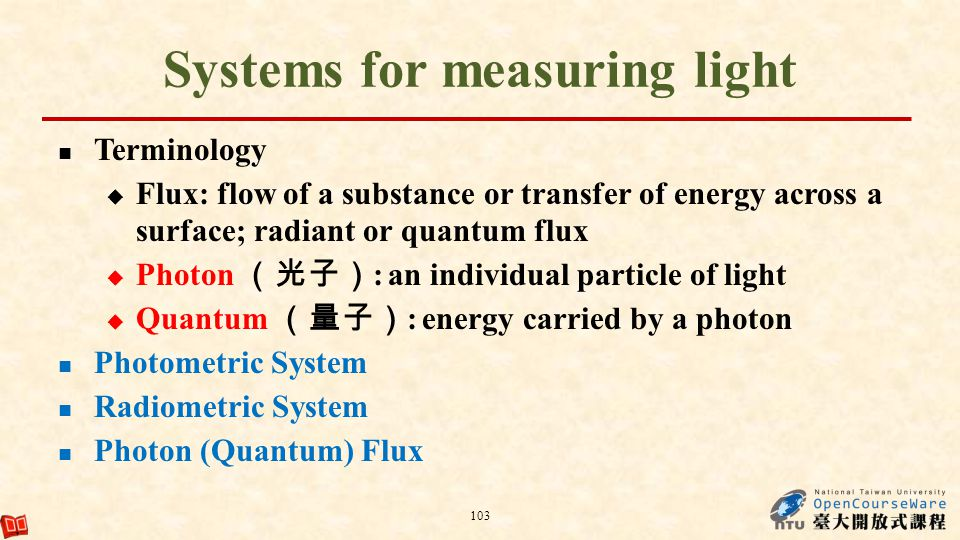 Systems for measuring light