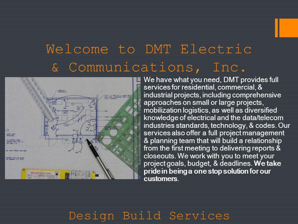 Welcome to DMT Electric & Communications, Inc.