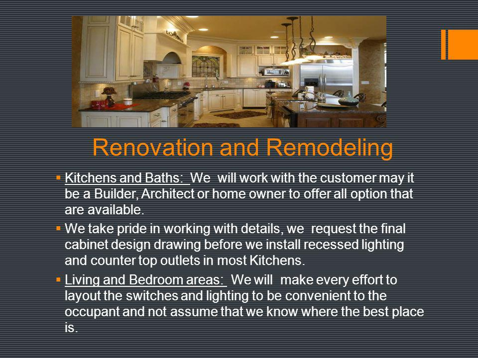 Renovation and Remodeling