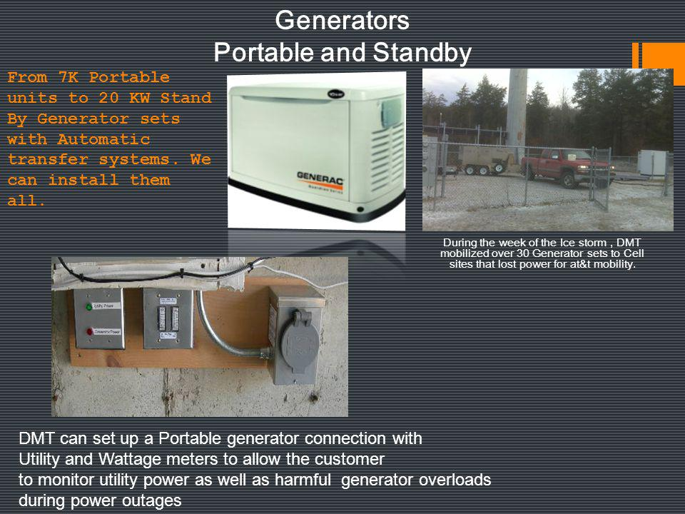 Generators Portable and Standby